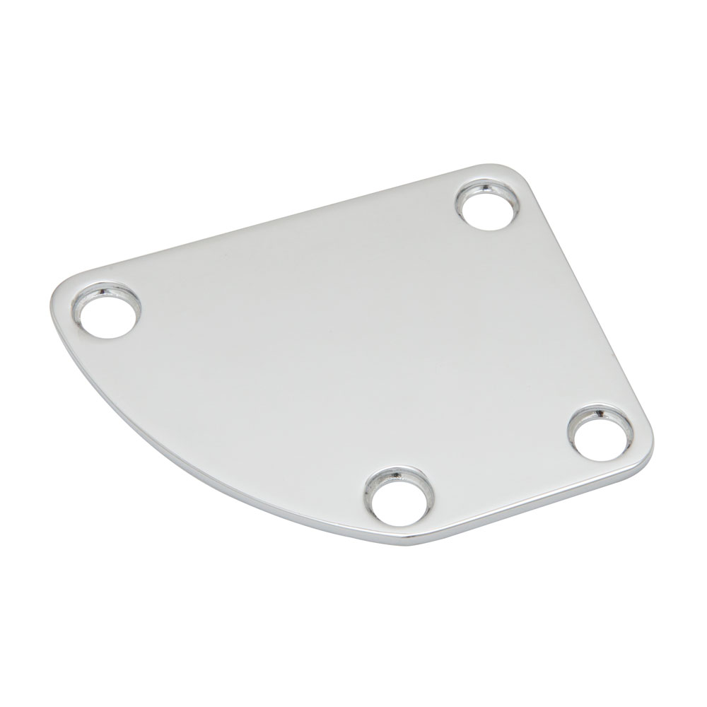 Boston Curved Neck Plate Fender Deluxe Style (Chrome)