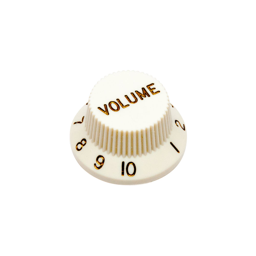 Hosco Volume Control Knob Fender Style (Parchment White, Imperial (inch))