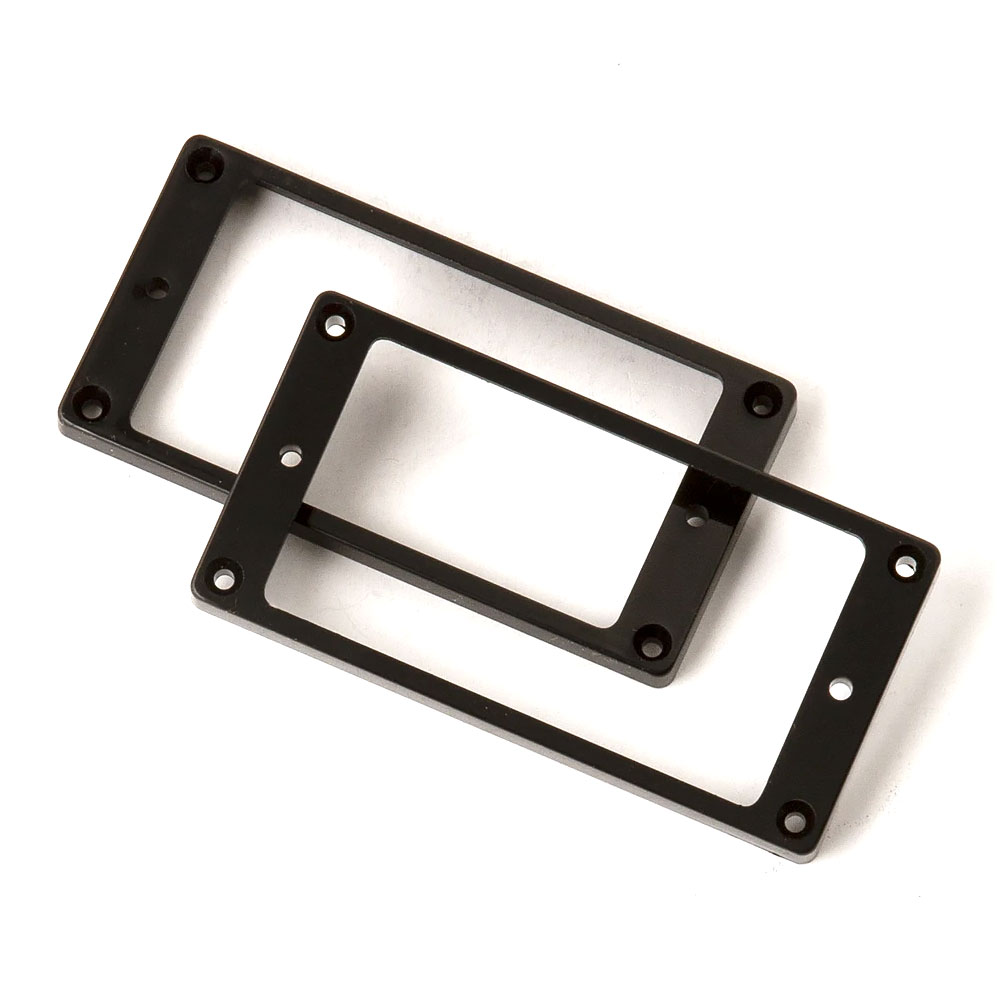 PRS SE Pickup Mounting Rings Straight Set of 2 (Black)