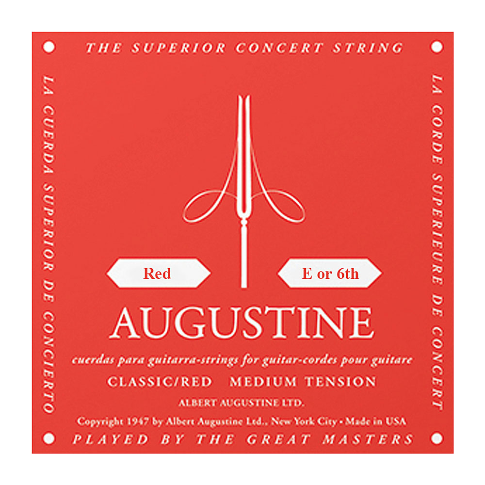 Augustine Red Label Classic Medium Tension Single Strings (6th/Low E String)