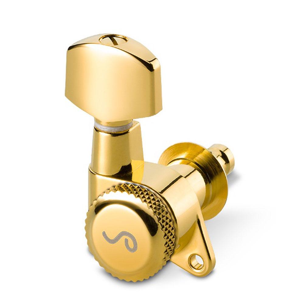 Schaller M6 Locking Single Tuner 135 Screw (Right Handed, Gold, 21 mm)