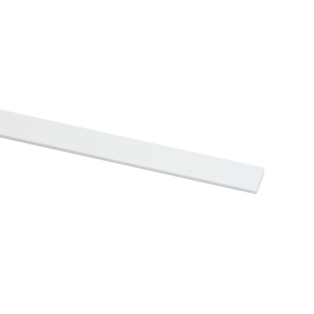 Hosco White Plastic Guitar Binding (1.5 mm, 7 mm)