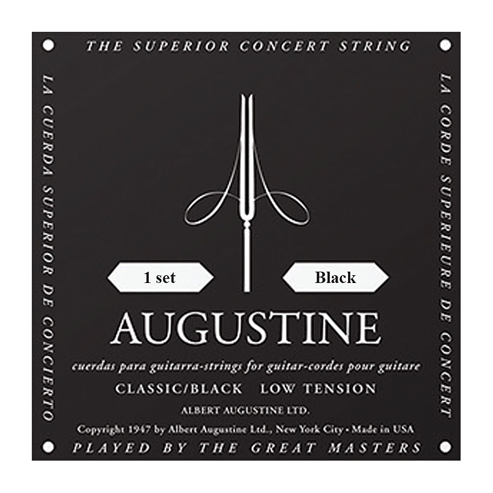 Augustine Black Label Classic Classical Guitar Strings