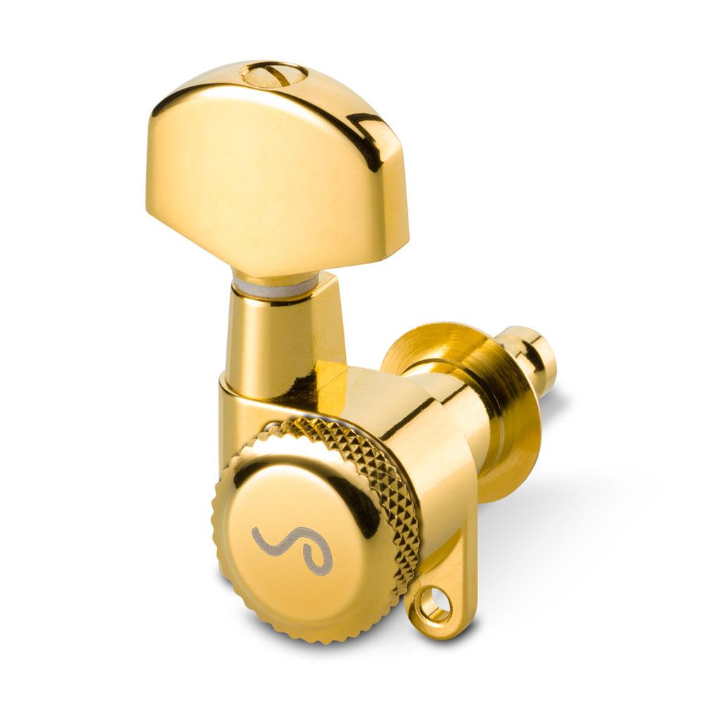 Schaller M6 Locking Tuners 3 x 3 180 Screw (Gold, .02)