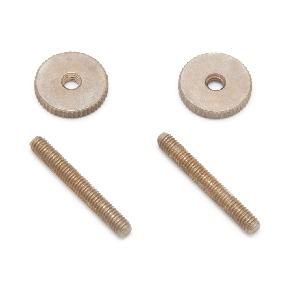 Faber Steel Tune-o-matic Posts and Thumbwheels (Aged/Relic Nickel, Imperial (inch))