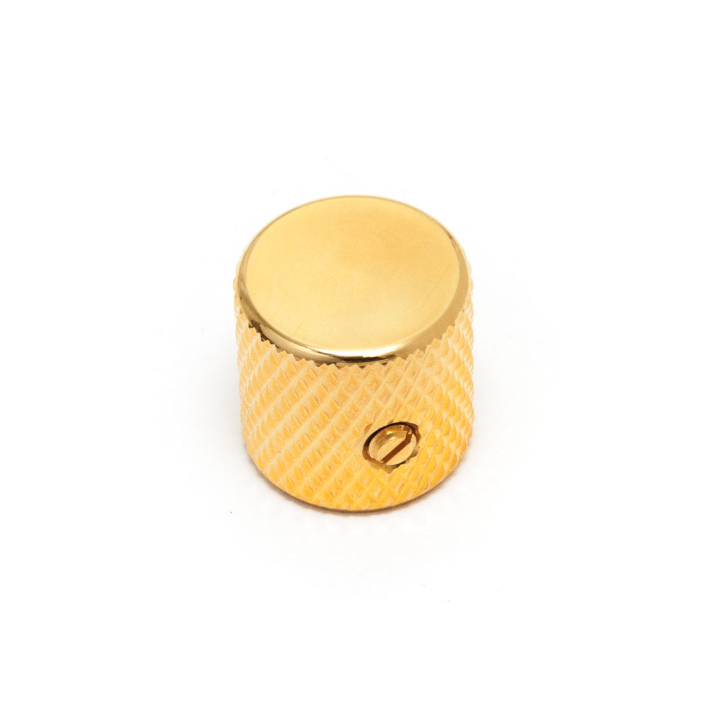 Hosco Telecaster Style Flat Top Control Knob with Set Screw (Gold)
