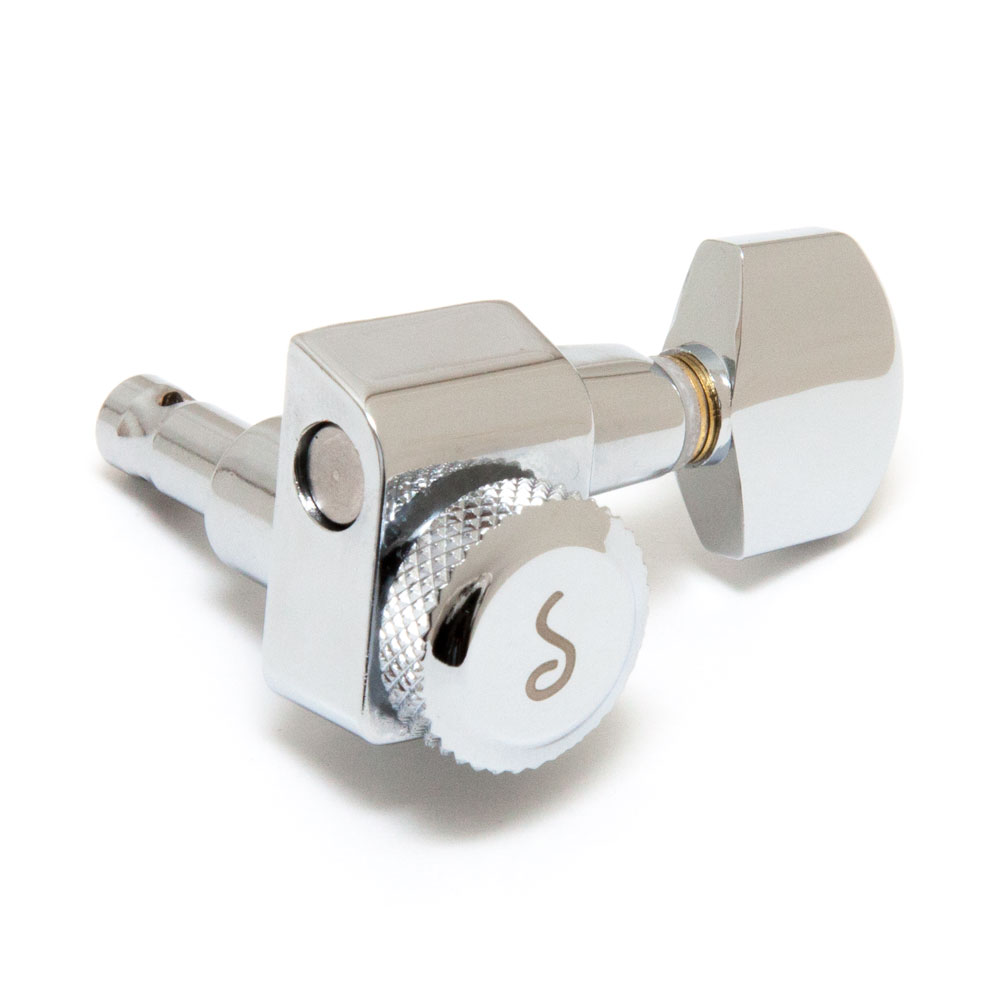 Schaller Original F-Series Locking Tuners 6 In-Line Right Handed Pin Mount (Chrome, .01)