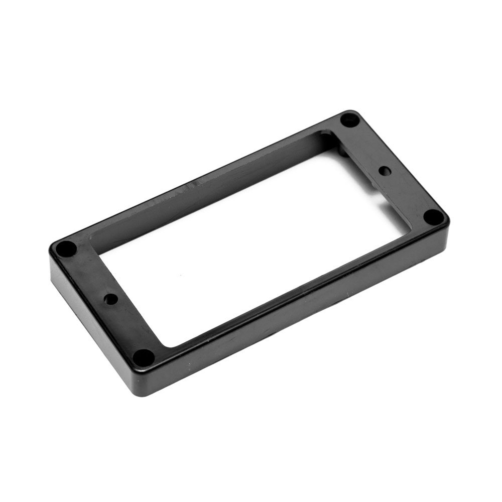Hosco Pickup Mounting Rings Flat Top and Bottom (Black, Bridge)