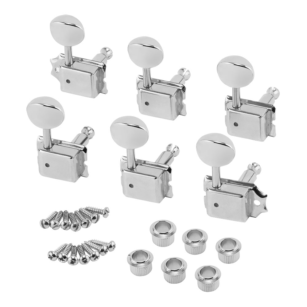 Fender American Vintage Stratocaster/Telecaster Staggered Tuners 6 In-Line Right Handed (Nickel)