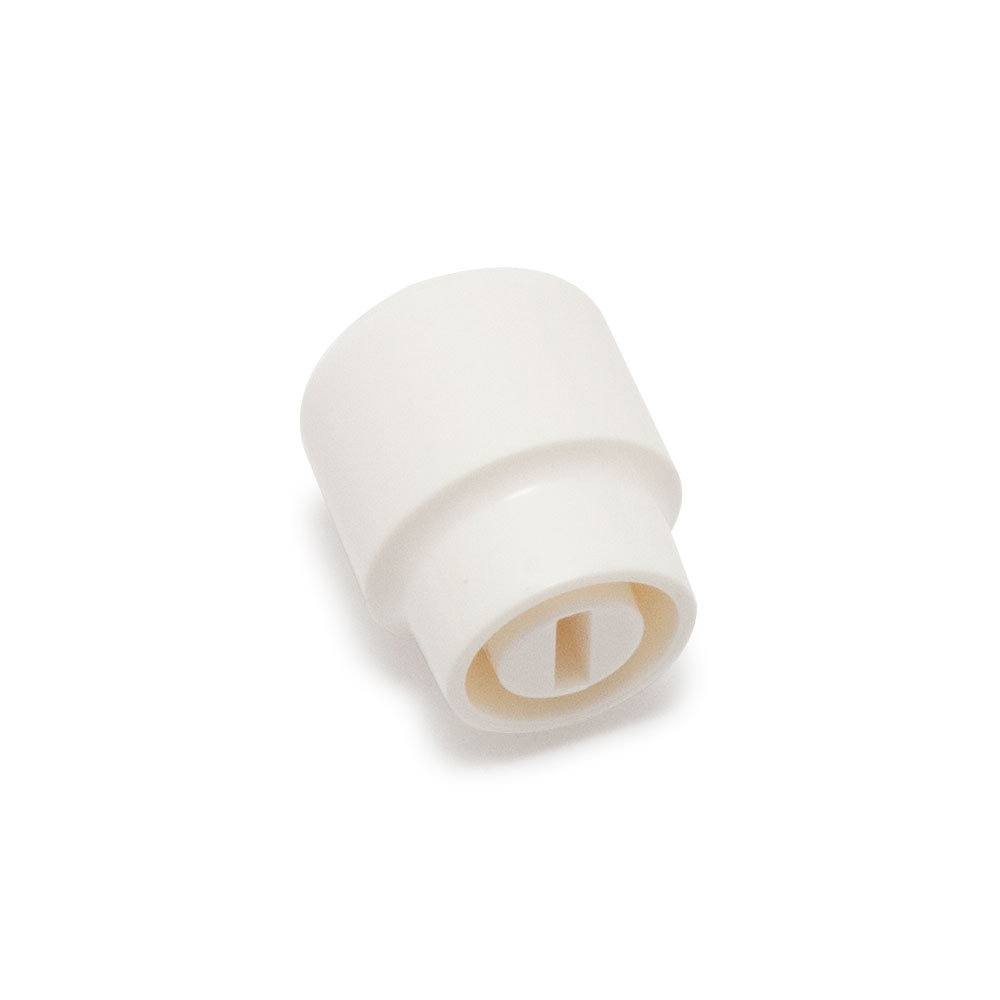 Hosco Telecaster Style Barrel Switch Tip/Knob (White, Imperial (inch))
