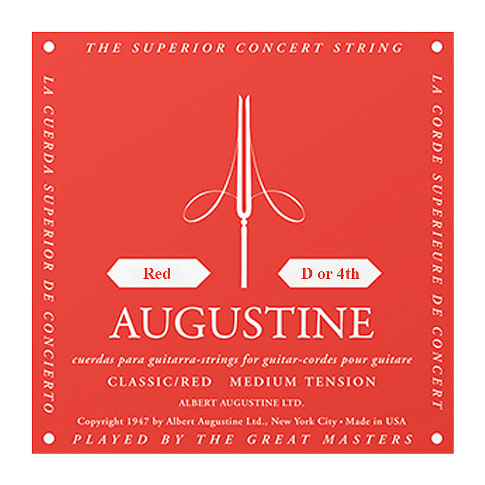 Augustine Red Label Classic Medium Tension Single Strings (4th/D String)
