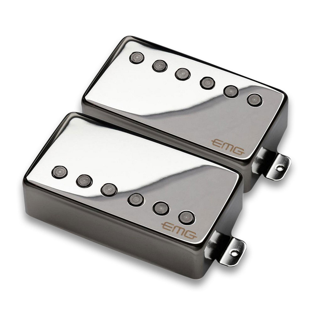 EMG JH Het Set James Hetfield Humbucker Pickup Set (Chrome)