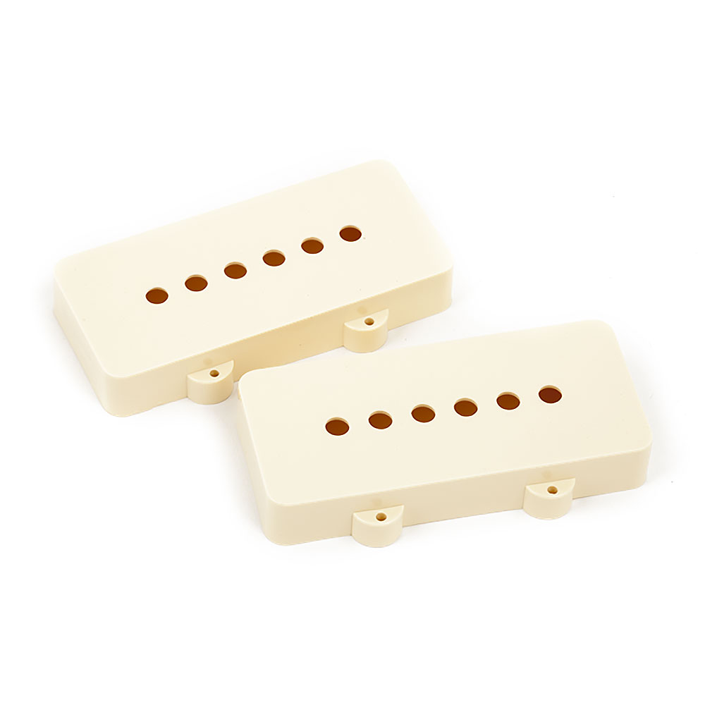 Fender Jazzmaster Pickup Covers Set of 2 (Aged White)