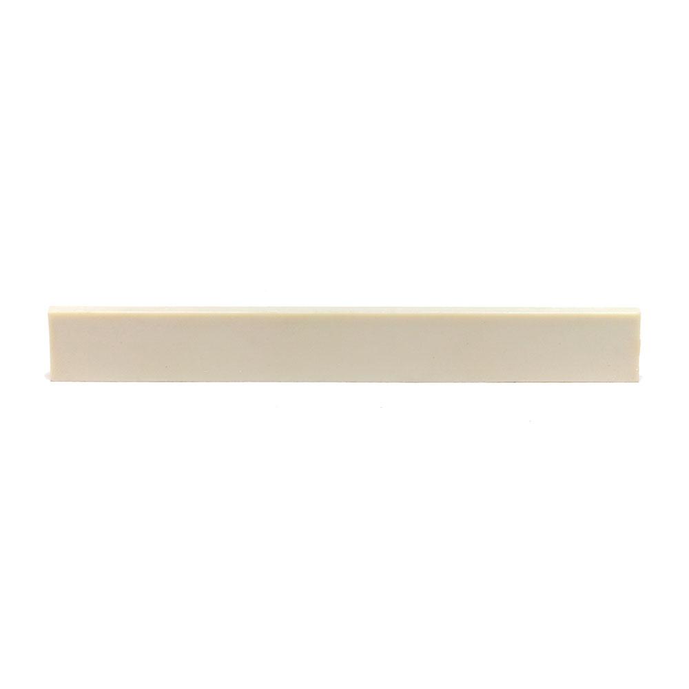 """Graph Tech TUSQ 1/8"""" Blank Acoustic Saddle Slab (White)"""