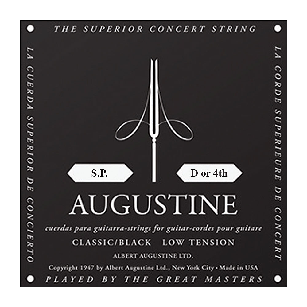 Augustine Black Label Classic Light Tension Single Strings (4th/D String)
