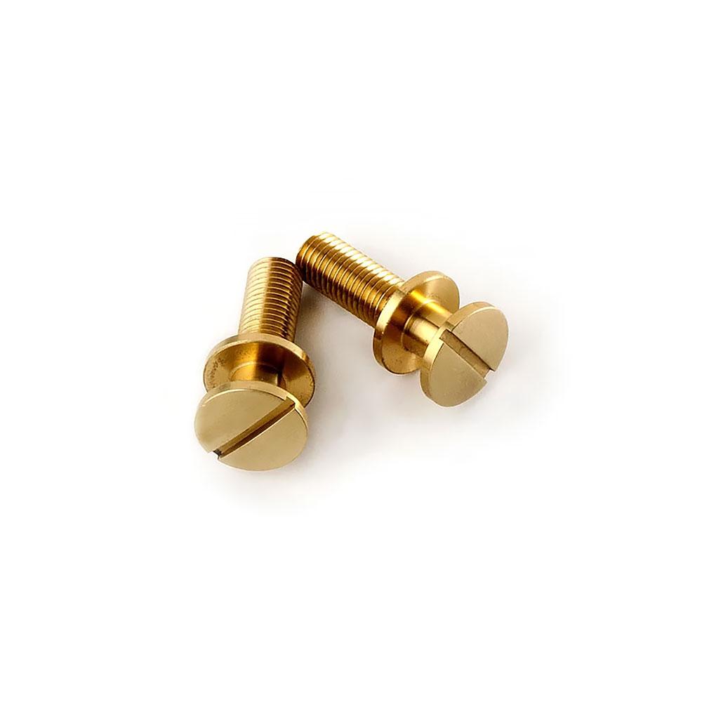 PRS Brass Wraparound Stoptail Studs/Posts (Unplated, Metric (mm))