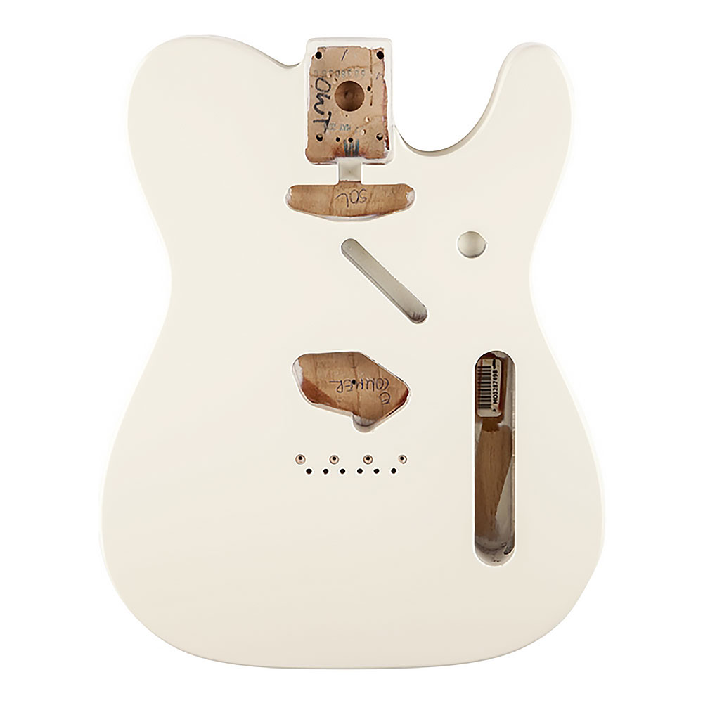 Fender Classic Series 60's Telecaster Alder Body Vintage Bridge Mount (Olympic White)