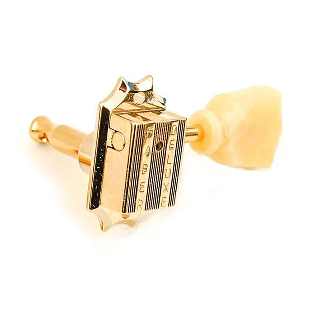 Faber Deluxe Tuners 3 x 3 Kluson Style w/ Bolt Bushing (Gold)