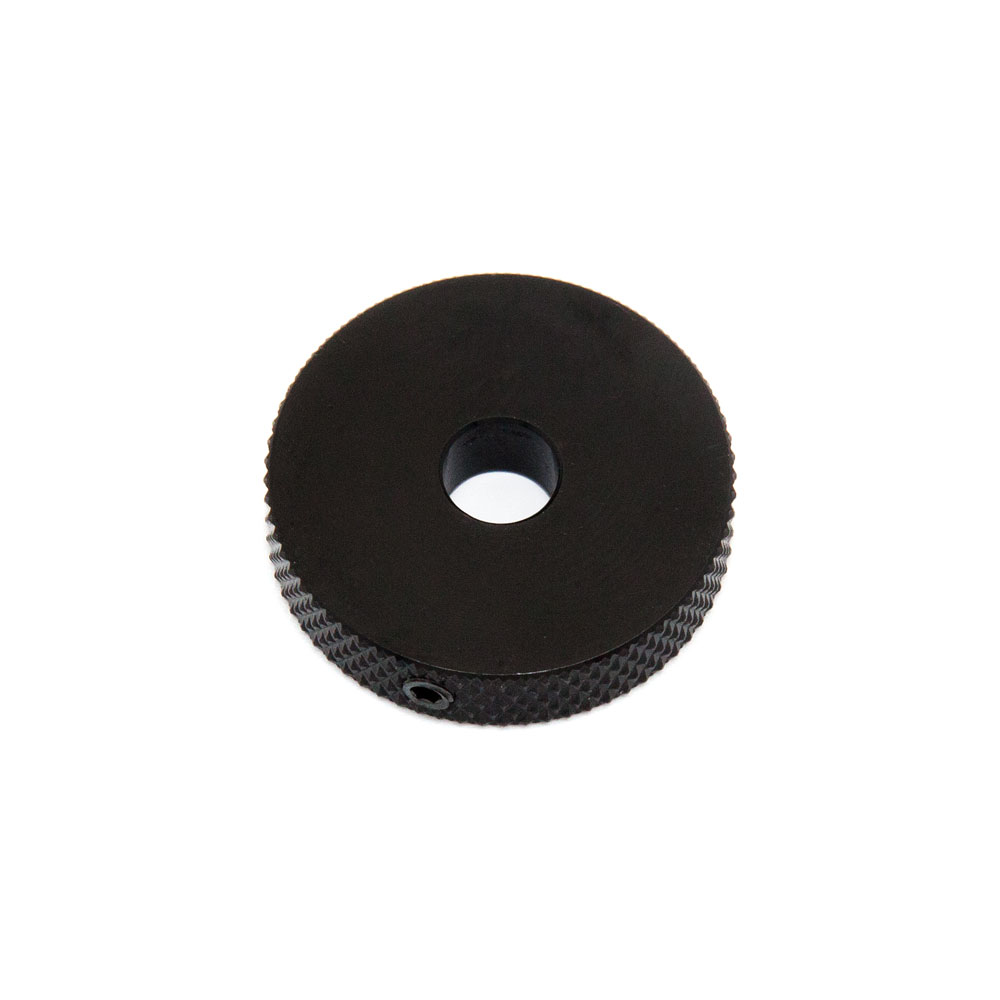 Hosco Jaguar Style Roller Pot Wheel Knob (Black)