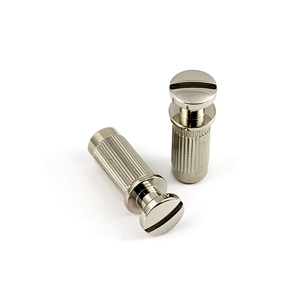 ABM PRS Style Wraparound Tailpiece Posts and Bushings Set of 2 (Nickel, Imperial (inch))