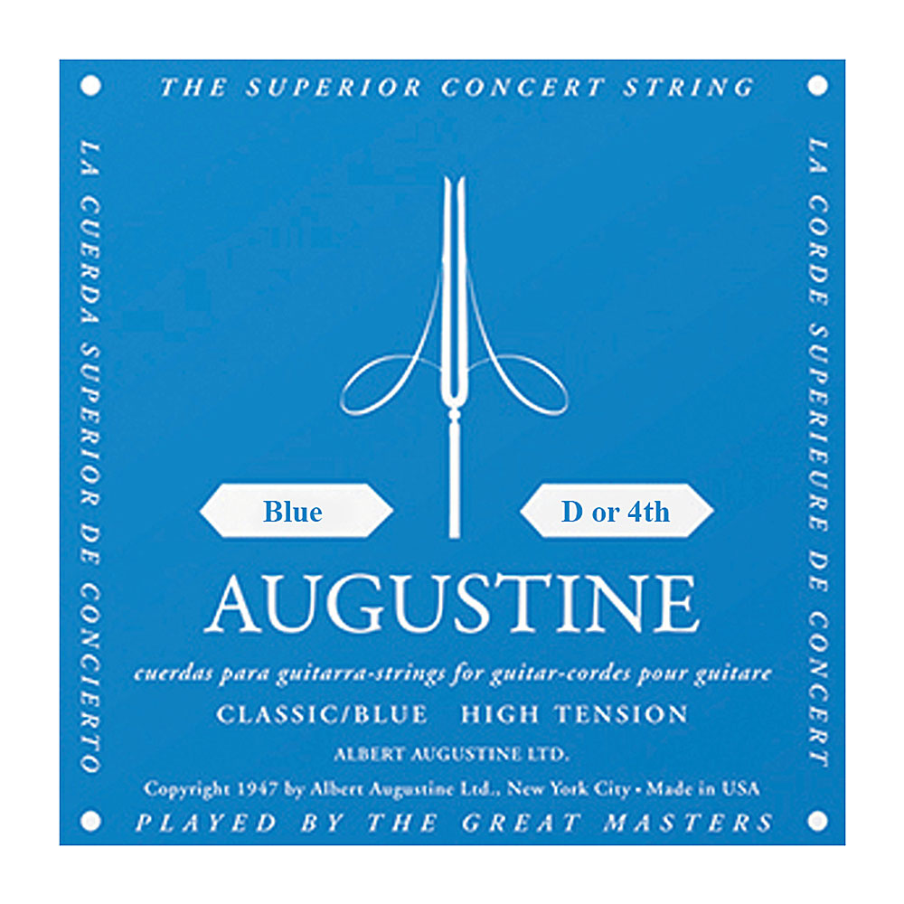 Augustine Blue Label Classic High Tension Single Strings (4th/D String)