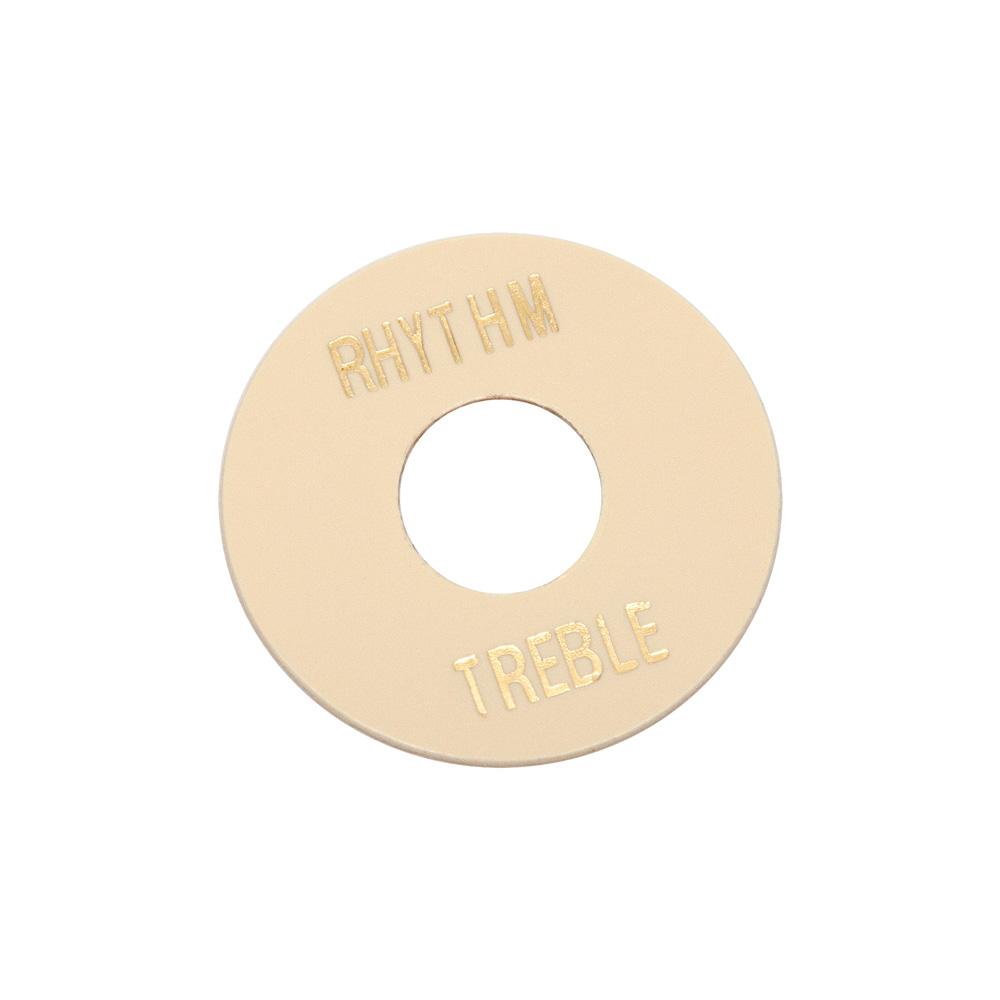 Hosco Les Paul Rhythm/Treble Poker Chip Style Switch Plate (Ivory)