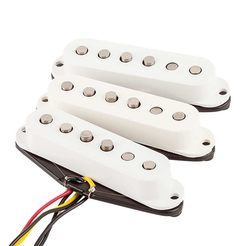 Fender Tex-Mex Strat/Stratocaster Single Coil Pickups Set (White)