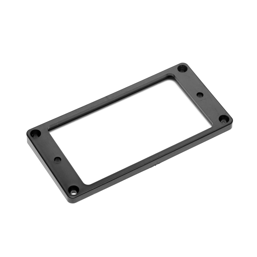 Hosco Pickup Mounting Rings Flat Top and Bottom (Black, Neck)