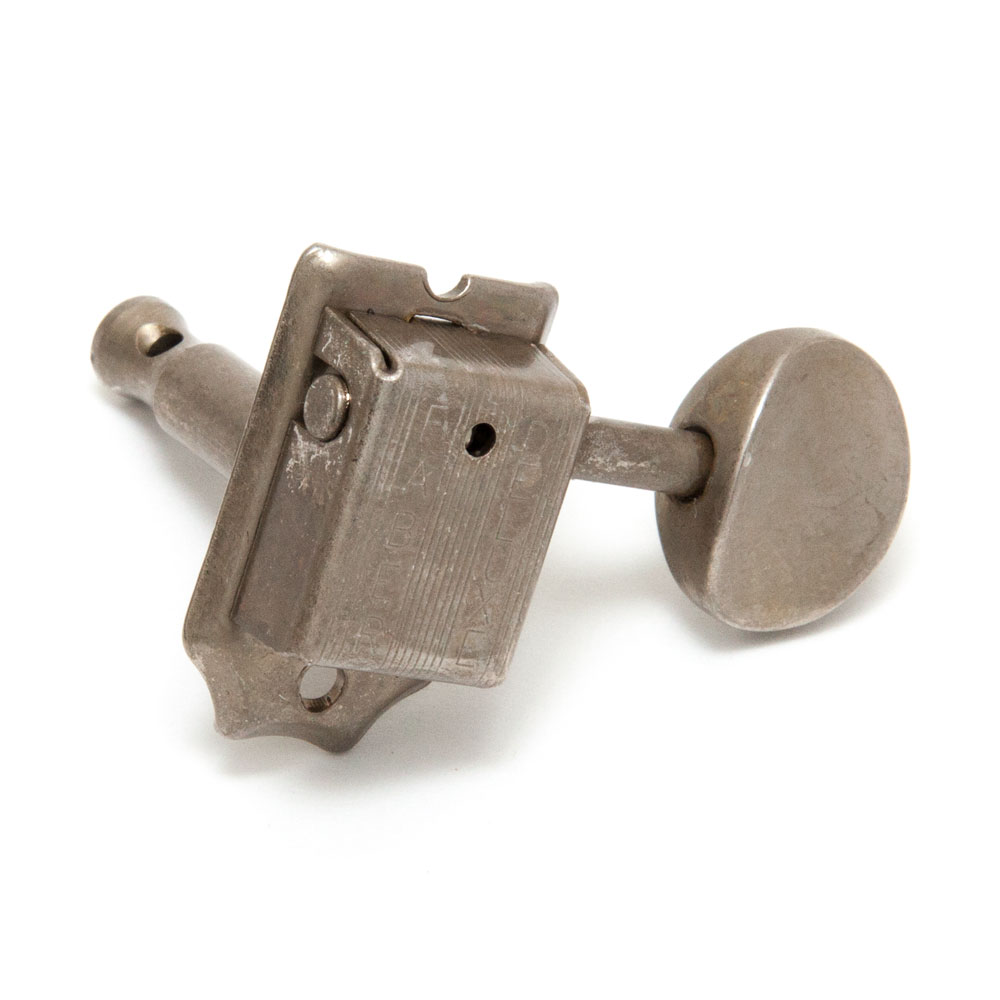 Faber Deluxe Tuners 6 In-Line Right Handed Kluson Style w/ 9.2 mm Bushing (Aged/Relic Nickel)