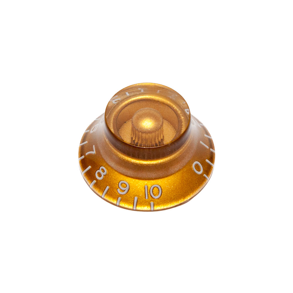 Hosco Hat Control Knob Gibson Style (Gold, Metric (mm))