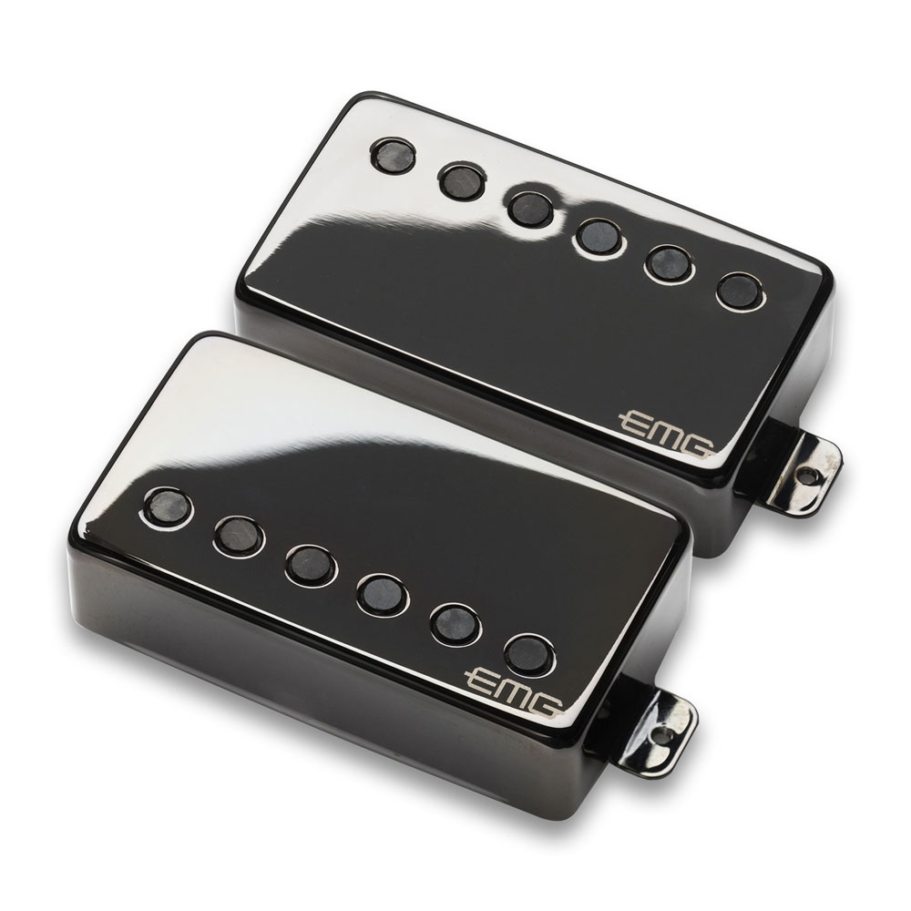 EMG JH Het Set James Hetfield Humbucker Pickup Set (Black Chrome)