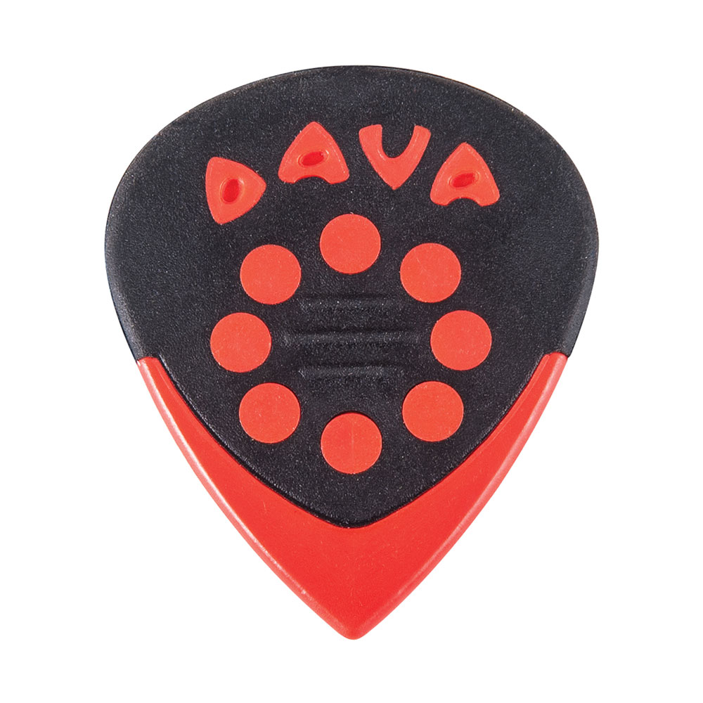 Dava Jazz Grips Delrin Picks/Plectrums (Pack of 6)