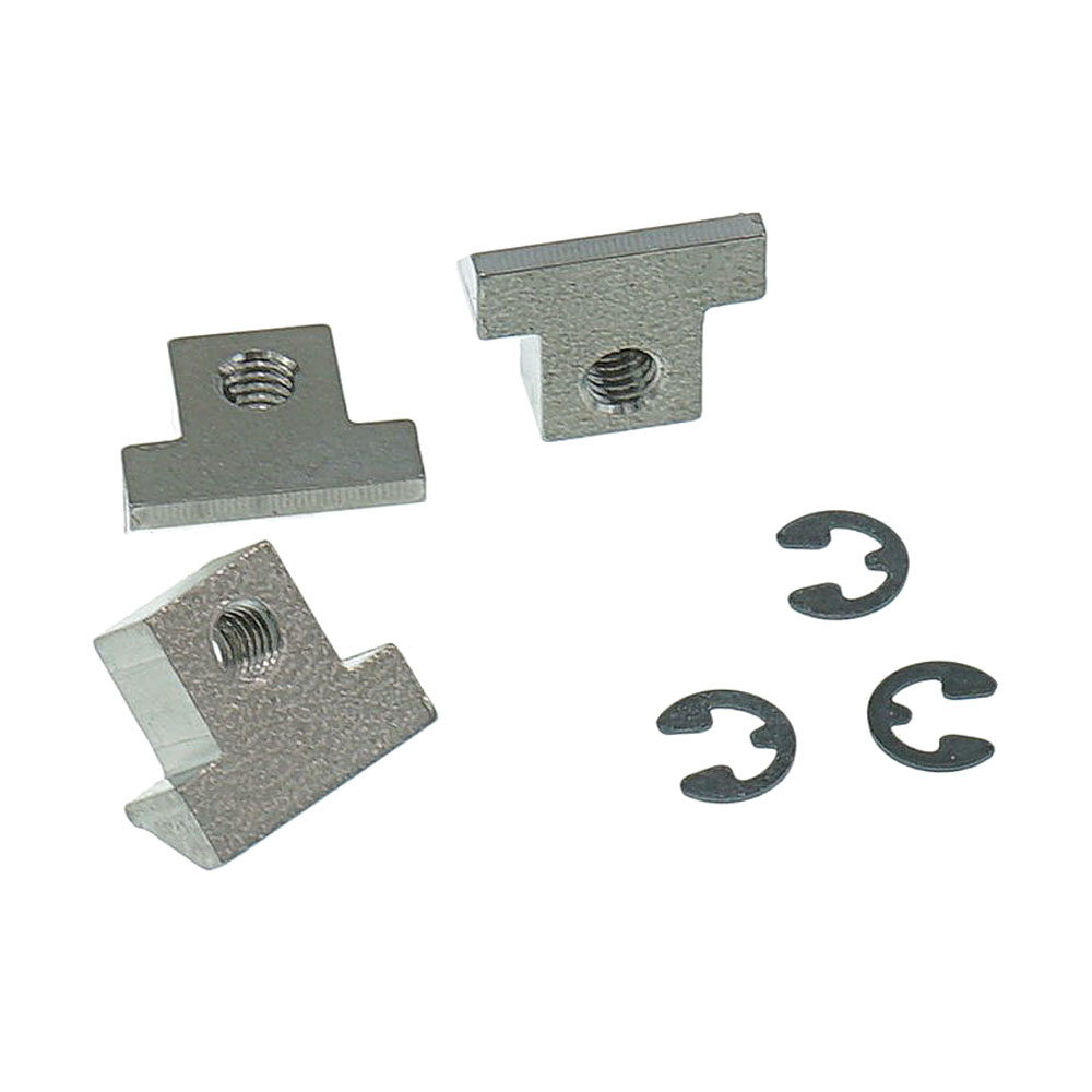 Faber Replacement ABR-1 Style Titanium Tune-o-matic Saddles Set of 3 (Unplated, Unnotched)
