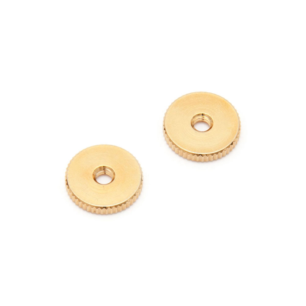 Faber ABR-1 Style Tune-o-matic Thumbwheels Set of 2 (Gold, Metric (mm))