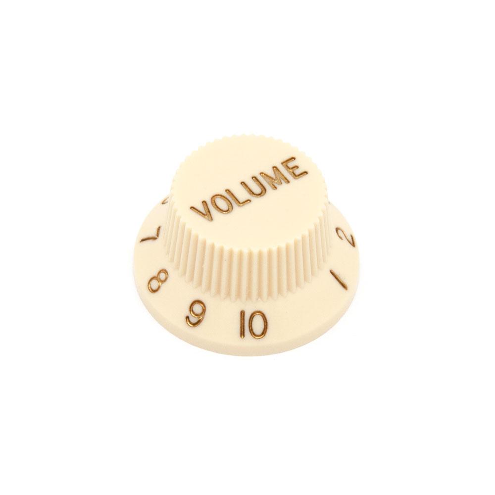 Hosco Volume Control Knob Fender Stratocaster Style (Cream, Imperial (inch))