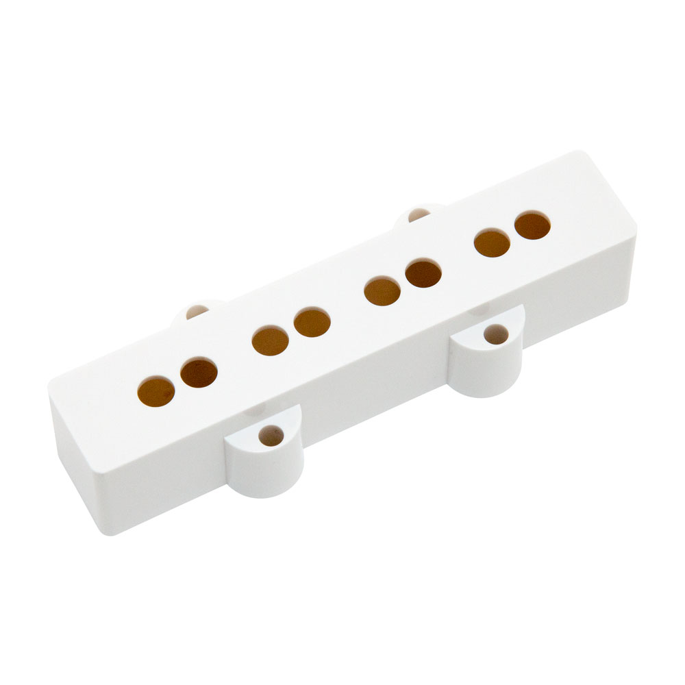 Hosco Jazz Bass Pickup Covers Fender Style (White, Neck)