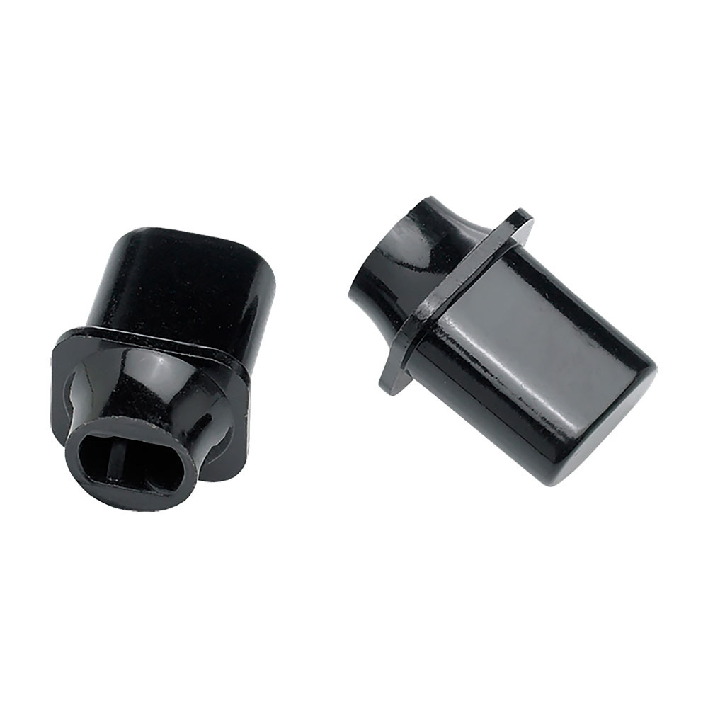 Fender Pure Vintage Telecaster Top Hat Style Switch Tip/Knob Pack of 2 (Black)