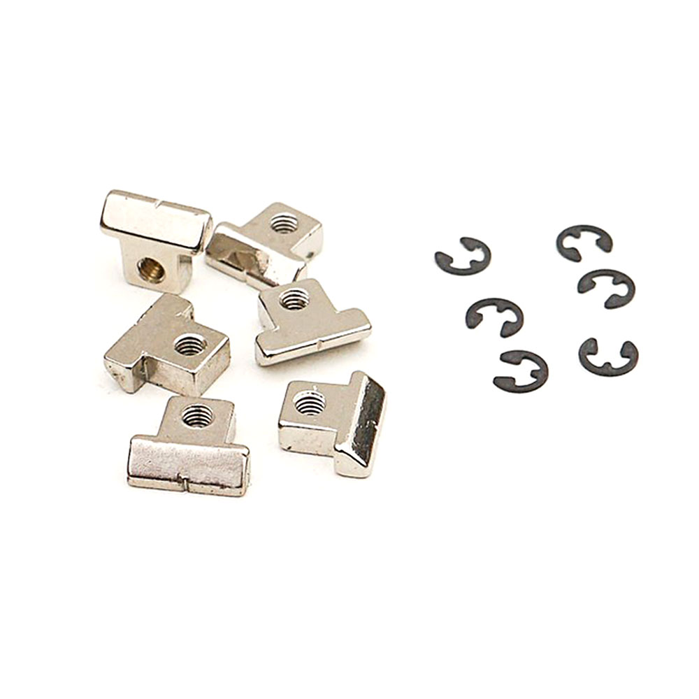 Faber Replacement ABR-1 Style Brass Tune-o-matic Saddles Set of 6 (Nickel, Notched)