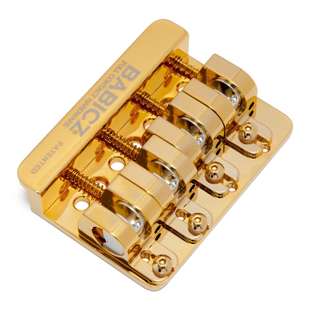 Babicz FCH-4 AM Original Series Fender Mount String Through Bass Bridge (Gold)