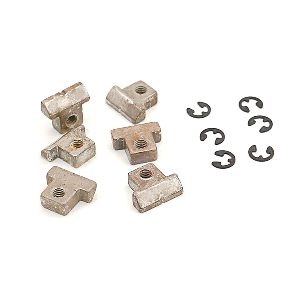 Faber Replacement ABR-1 Style Brass Tune-o-matic Saddles Set of 6 (Aged/Relic Nickel, Notched)