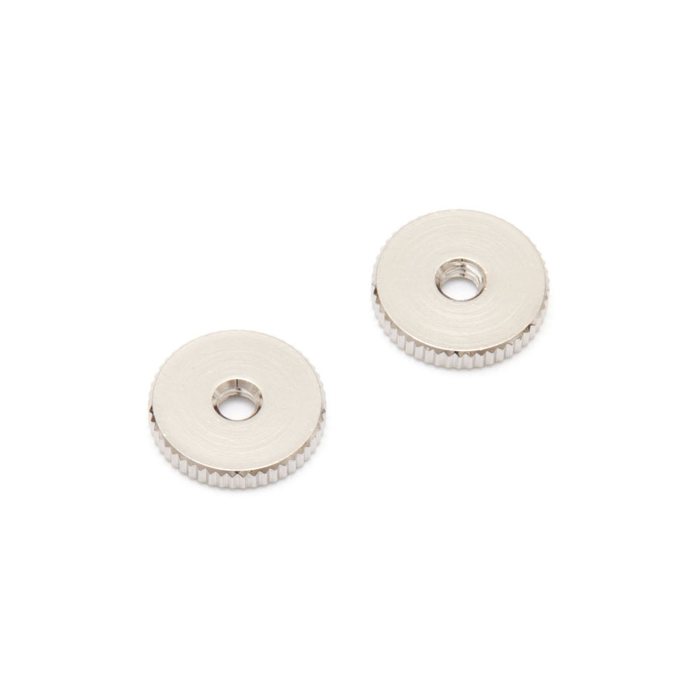 Faber ABR-1 Style Tune-o-matic Thumbwheels Set of 2 (Nickel, Metric (mm))