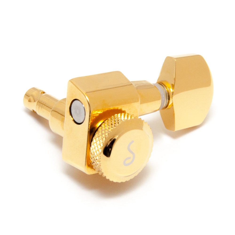 Schaller Original F-Series Locking Tuners 6 In-Line Right Handed Pin Mount (Gold, .01)