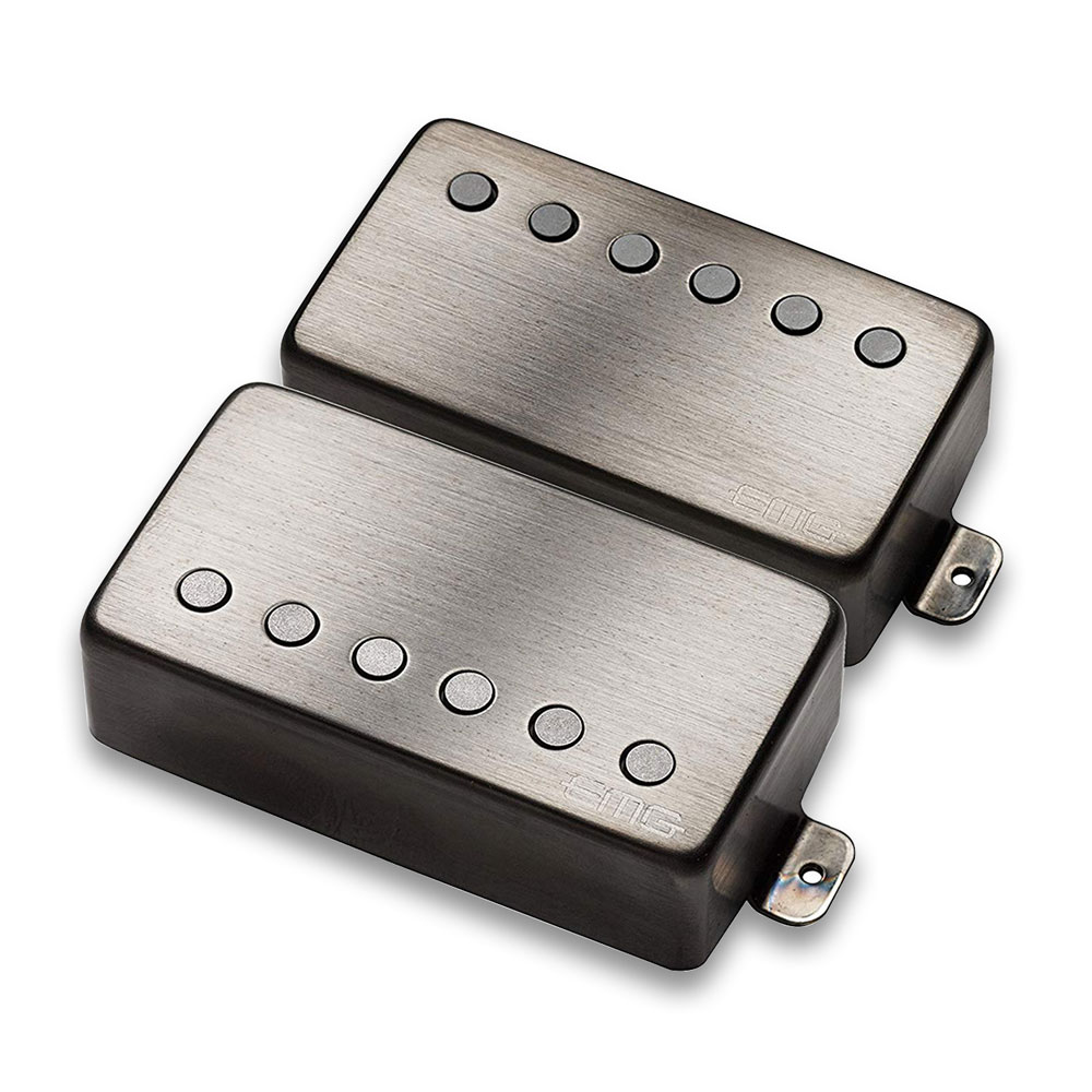 EMG JH Het Set James Hetfield Humbucker Pickup Set (Brushed Black Chrome)