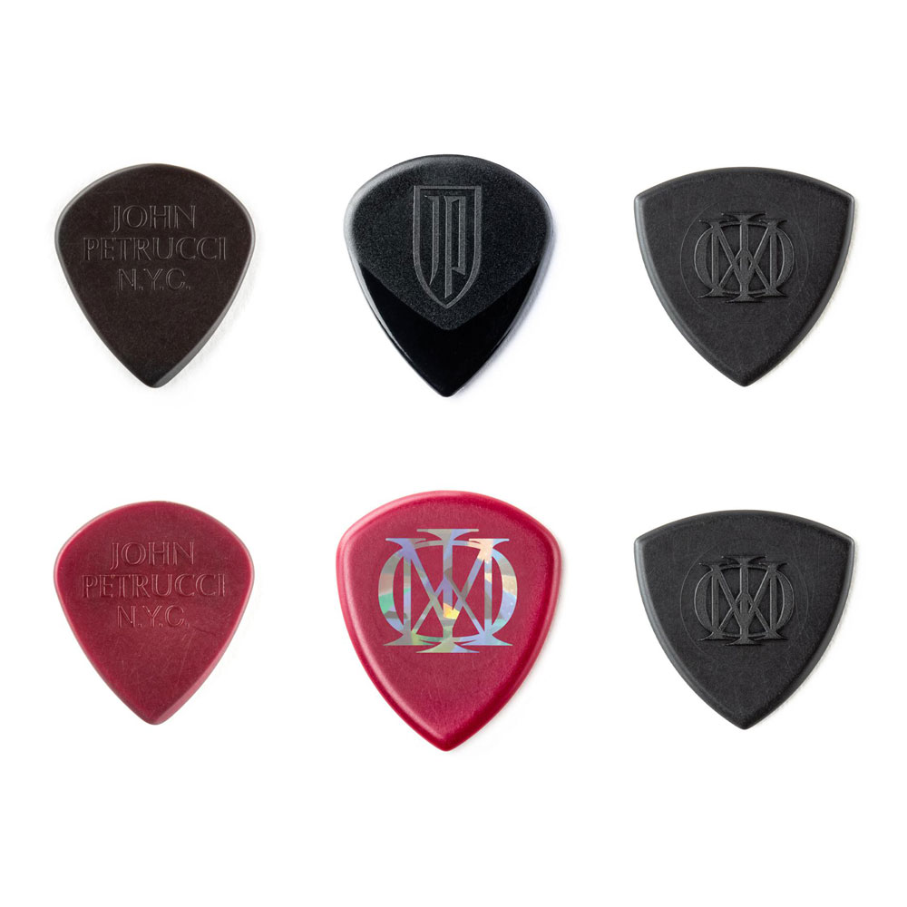 Jim Dunlop John Petrucci Signature Picks/Plectrums Variety Pack of 6