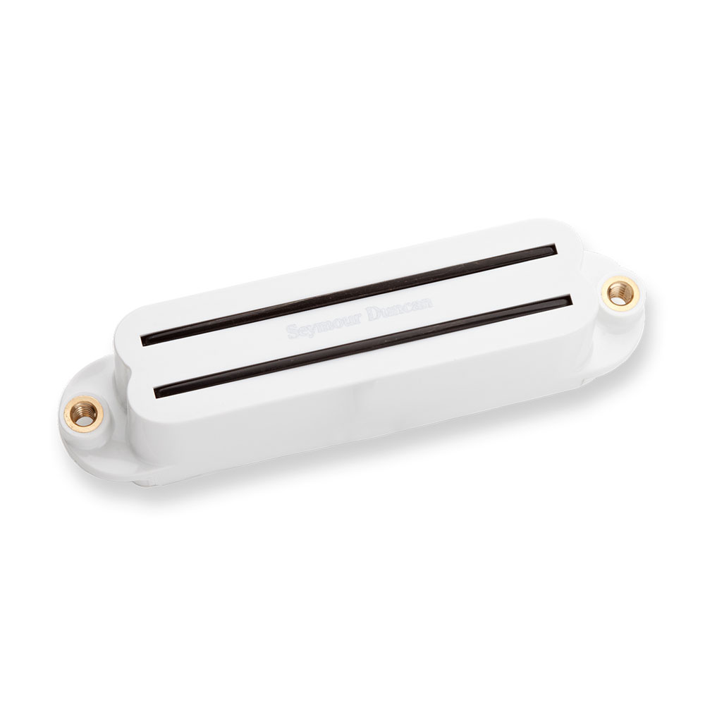 Seymour Duncan SHR-1b Hot Rails Strat Bridge Single Coil Sized Humbucker (White)