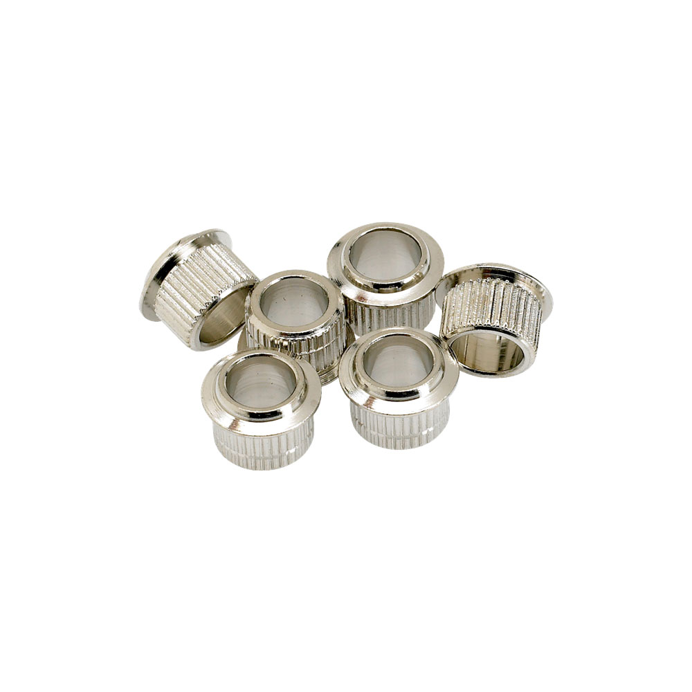 Fender 9.2 mm Vintage Style Press Fit Tuner Bushings Set of 6 (Nickel)