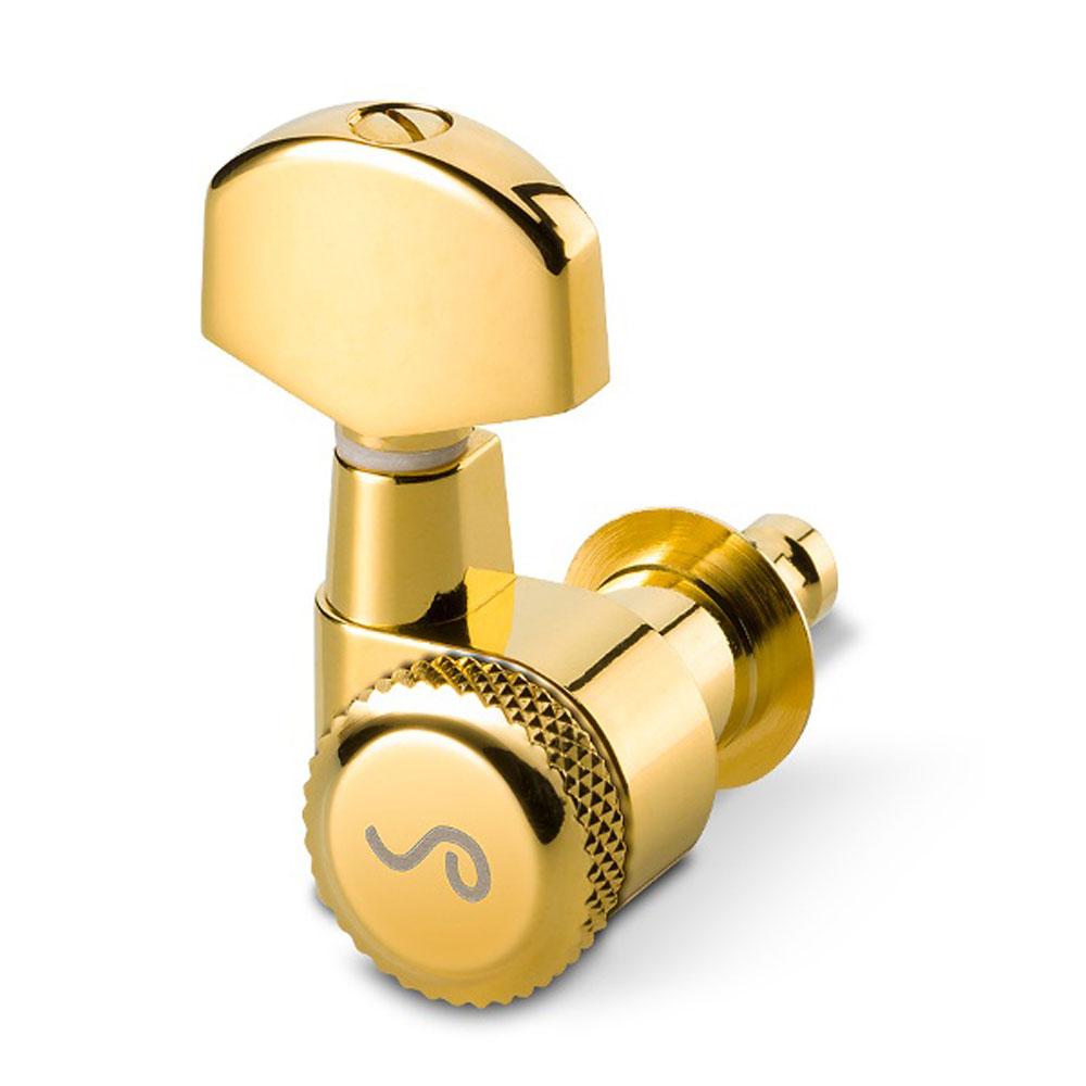 Schaller M6 Locking Tuners 3 x 3 Pin Mount (Gold, .02)