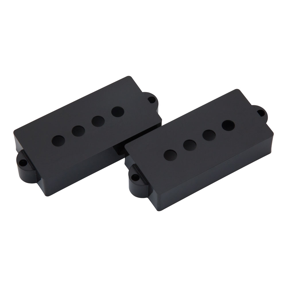 Hosco P Bass Pickup Covers Fender Style (Black)