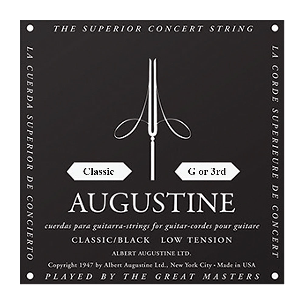 Augustine Classic Regular Tension Single Treble Strings (3rd/G String)