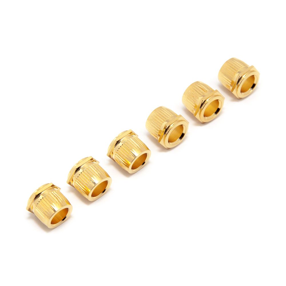 Hosco Hex Head Conversion Bushings for Vintage Style Tuners (Gold)